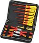 SPROTEK Tool Kits 7 Screwdrivers 3 Pliers 1000V, Red/ Yellow