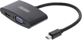 Mini DisplayPort till HDMI- och VGA-adapter,  0,15m, svart
