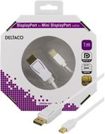DisplayPort till Mini DisplayPort kabel, 20-p ha-ha, 1m, vit