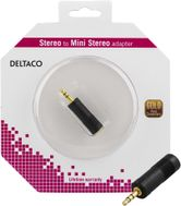 Deltaco multimediaadapter 6,3mm ho - 3,5mm stereo ha (AD-2-K)