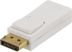 DELTACO DisplayPort till HDMI adapter, ha-ho, vit