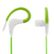 STREETZ sport earbuds with microphone,  3,5mm, 1,2m, green/ white