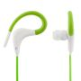 STREETZ sport earbuds with microphone, 3,5mm, 1,2m, green/white