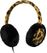 STREETZ headset with mic, fabric covered, 1.2m, leopard pattern
