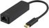 DELTACO USB 3.1 network adapter, Gigabit, 1xRJ45, USB Type C, black