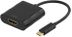 DELTACO USB TYPE C MALE - HDMI 19P FEMALE 0.1M BLACK