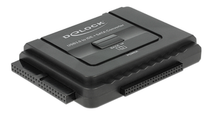 Delock Converter USB 3.0 to SATA 6GB/ s/ IDE40PIN/ IDE44PIN,  Black