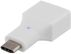 DELTACO USB 2.0 adapter, Type C - Type A F, white