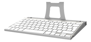 Maclocks, Secure Apple Keyboard Tray, tgb stöd, silver
