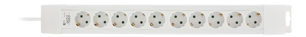 power strip 10xCEE 7/4, 1xCEE 7/7, 1,5m cable, white