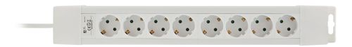 DELTACO power strip 8xCEE 7/4, 1xCEE 7/7, 1,5m cable, white (GT-191)