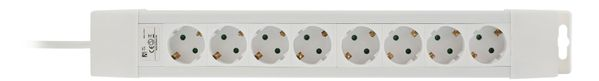 power strip 8xCEE 7/4, 1xCEE 7/7, 1,5m cable, white