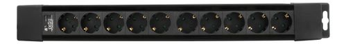DELTACO power strip 10xCEE 7/4, 1xCEE 7/7, 1,5m cable, black (GT-194)