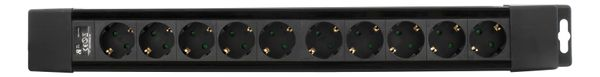 power strip 10xCEE 7/4, 1xCEE 7/7, 1,5m cable, black