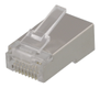 DELTACO RJ45 connector for patch cable, Cat6, shielded, 20pcs