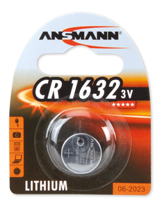 ANSMANN CR1632 Lithium batteri, knappcell,  3V (CR1632)