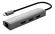 WINSTARS Type C,3 Port USB 3.0 HUB+Gigabit Ethernet Port