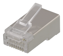 RJ45 connector for patch cable, Cat6a, shielded, 20pcs