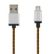 STREETZ USB cable, fabric coated, Type A M - Type Micro B, 3m, orange