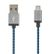 STREETZ USB cable, fabric coated, Type A M - Type Micro B, 3m, blue