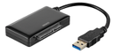"DELTACO USB 3.0 to SATA 6Gb/s adapter, for 2,5/3,5"" hdd, black"