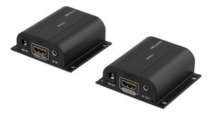 DELTACO Ethernet HDMI extender with IR, 60 meter, 1080p, black (HDMI-243)