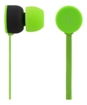 STREETZ Stereo Earbuds with Microphone,  Green