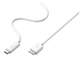J5 CREATE USB 3.1 cable, Gen 2, Type C M - Type micro B M, 0,9m, white
