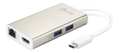 J5 CREATE JCA374 USB 3.0 Type-C Multi-Adapter - Hub - 2 x SuperSpeed USB 3.0 - desktop - (Fjernlager - levering  2-4 døgn!!)