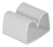 DELTACO Prime Cord Tabs with Self Adhesive Tape White