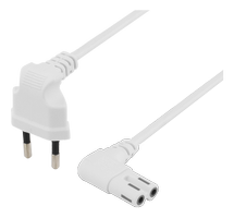 Power cable EU type angel white 2 m