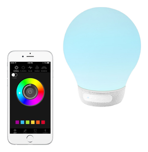 DIVOOM Bluetooh Speakers, White (AURABULB)