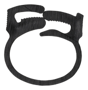 DELTACO cable clamp, 17,5x22mm, reusable, 6-pack, black