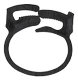 DELTACO cable clamp, 17, 5x22mm,  reusable, 6-pack, black