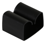 DELTACO adhesive cable clip in plastic, 29x9mm, 4-pack, black