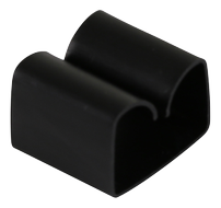 DELTACO adhesive cable clip in plastic, 29x9mm, 4-pack, black (CM517)