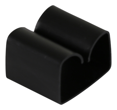 adhesive cable clip in plastic, 29x9mm, 4-pack, black