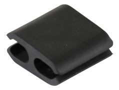 DELTACO cable holder in soft rubber,dimensions 8x10mm, 4-pack, black