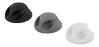 DELTACO self adhesive cable holder in rubber, 6-pack, black/ white/ gray (CM509)