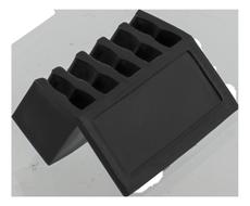 självhäftande kabelhållare,  5 platser, 8mm, 2-pack, svart