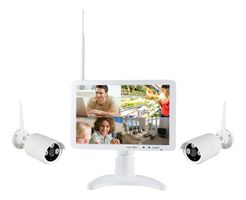 DELTACO NVR Monitor 2 cameras white (M1011NW4+C1109DN2-W1)