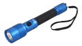 MAXELL UV LED flashlight, IP44, aluminum, blue