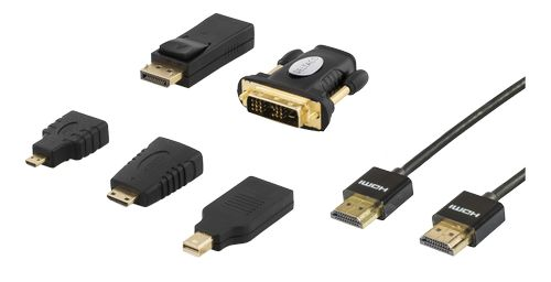 DELTACO HMDI-KIT with cable and adapters (HDMI-251)