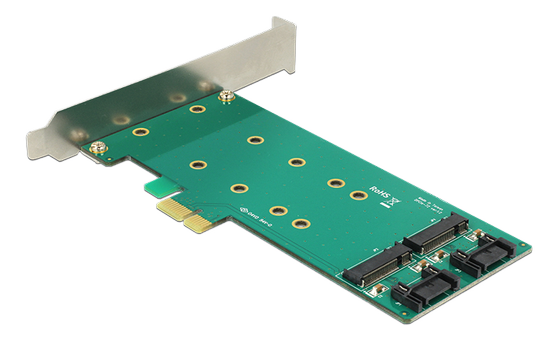 PCI Express Card >2 x internal M.2 key B 110 mm Low Profile Form Fact