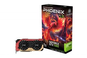 GeForce GTX 1060 Phoenix Grafikkort,  PCI-Express 3.0, 6GB GDDR5, DL-DVI, HDMI 2.0, 3xDP, Pascal