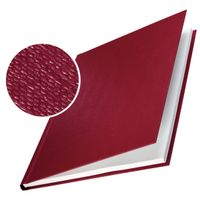 LEITZ Cover hard linen 10.5mm Burgundy (10) (73920028)