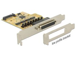 DELOCK PCI Express Card >4x Serial with voltage supply (89447)