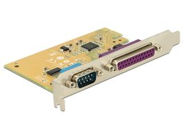 DELOCK PCI-Express kort, 1xDB25 ho, 1xRS-232 DB9 ha (89446)