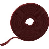 Velcro on roll, width 9mm, 5m, red