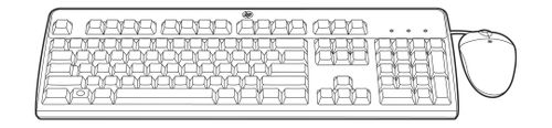 Hewlett Packard Enterprise USB CZ KEYBOARD/ MOUSE KIT .                                IN PERP (672097-223)